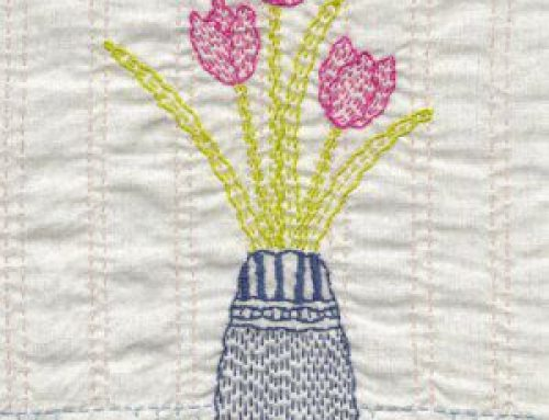 Subscriber Giveaway for June  2019 – Tulip Kantha Kit from Angela Daymond