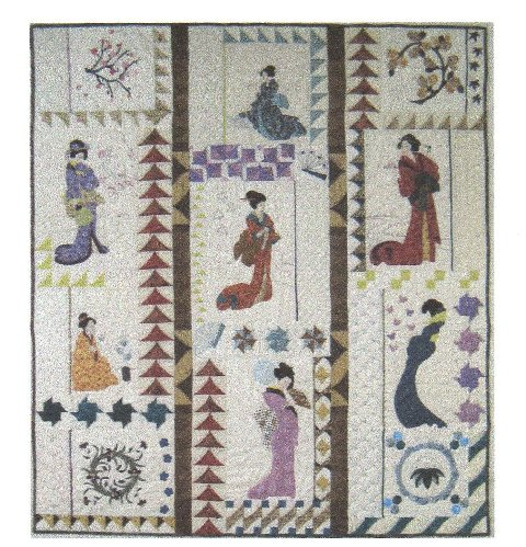 Geishas Block of the Month from Village Fabrics