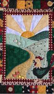 Rise & Shine wallhanging designed by Lesley Brankin