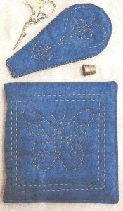 Sashiko Needle & Scissor Case kit from The Stitch Witch