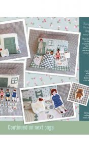 Dolls House Panel – Freya and Friends, designed by Janet Clare