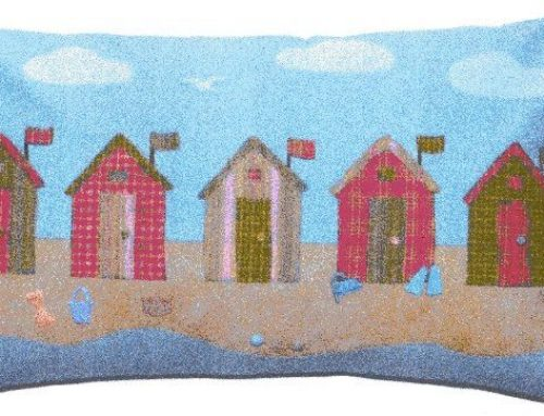 Subscriber Giveaway for February 2020 – Beach Huts cushion pattern designed by Sue Trangmar