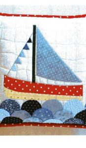 Sailboat Cushion designed by Sue Rhodes