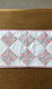 PRODUCT of the MONTH Paris Romance Table Runner Kit designed by Nicola Whayman