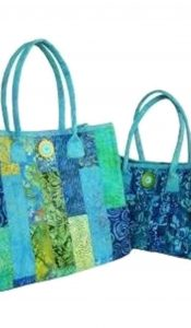 "PRODUCT of the MONTH: ""Aunties Two"" Fuse, Fold and Stitch bags set"