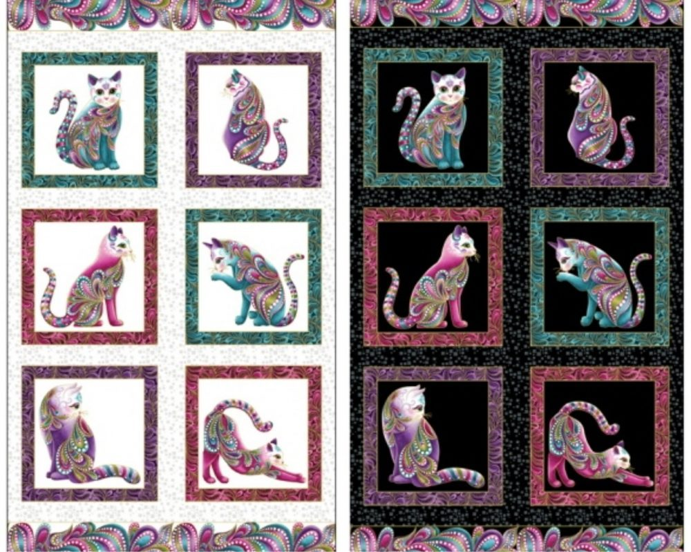 Subscriber Giveaway for March 2019 – Cat-itude Panel by Bernatex