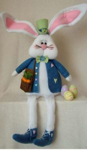 Trevor the Bunny pattern designed by Gail Penberthy