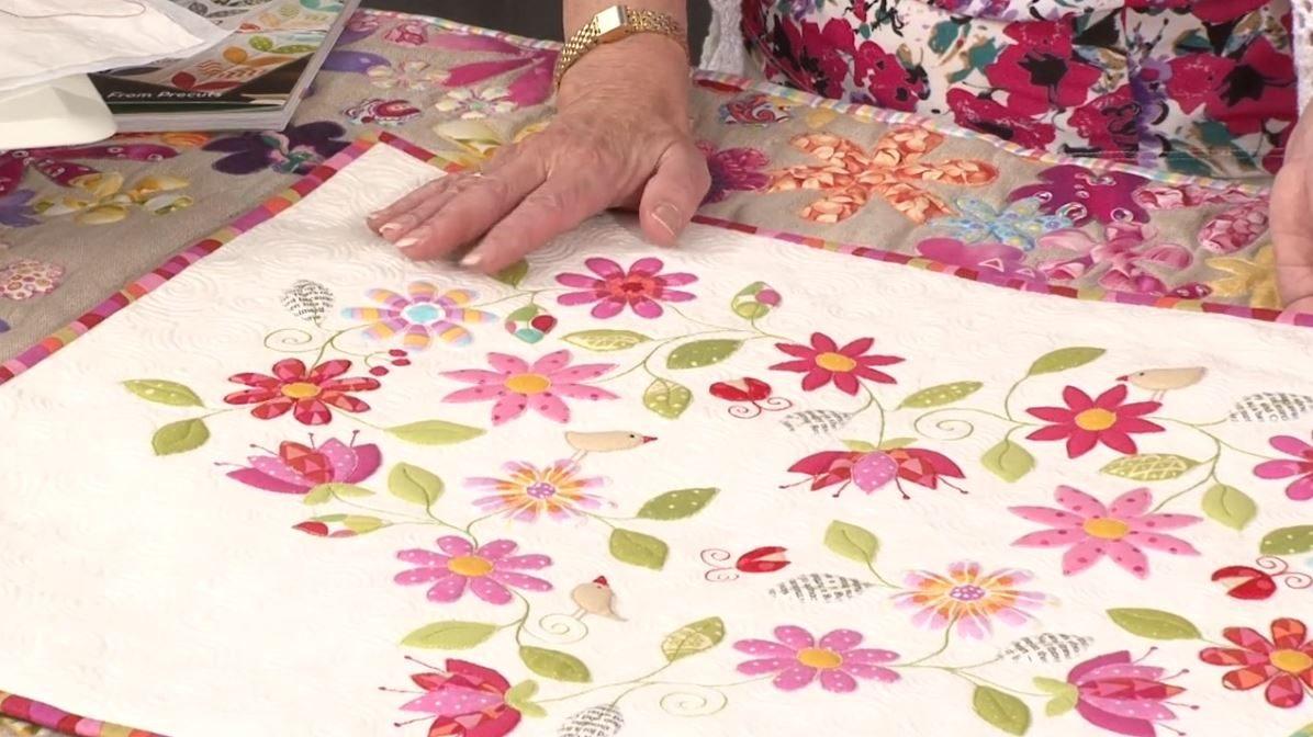 Straight stitch fused applique with Valerie Nesbitt