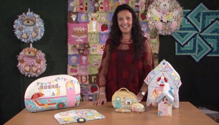 beach huts, bunting, cushion, Gail Penberthy, home-dec, sewing kit