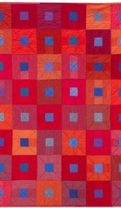 City Lights Ruby Reds Quilt Pack 'n Pattern set designed by Helen Howes