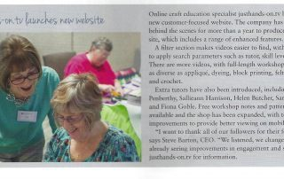 CraftFocus June July 2019 justhands-on.tv launches new website article