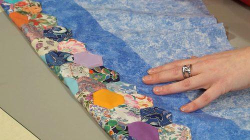 finishing, english paper piecing, EPP, quilt, Nancy Adamek, applique, basics, borders, hexagons