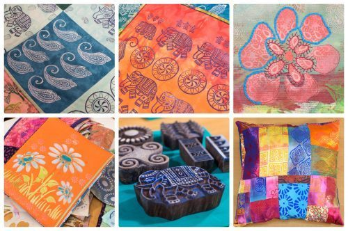 Jamie Malden Textiles Block Printing retreat Colouricious