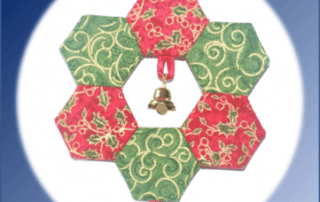 Wreath Christmas Ornament kit by Lina Patchwork, EPP. English Paper Piecing