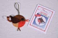 Nancy Adamek, Lina Patchwork, English Paper Piecing, EPP, Christmas Decorations, Robin