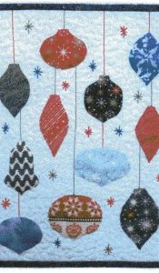 Christmas Baubles Miniature quilt pattern designed by Julia Gahagan