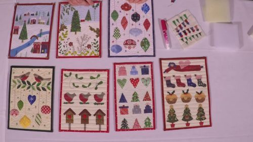 Christmas Miniature Quilts with Julia Gahagan November retreat promo