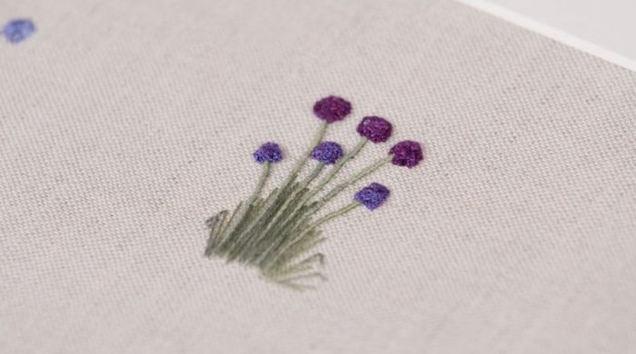 Creating Embroidered Flower Stems with Lorna Bateman
