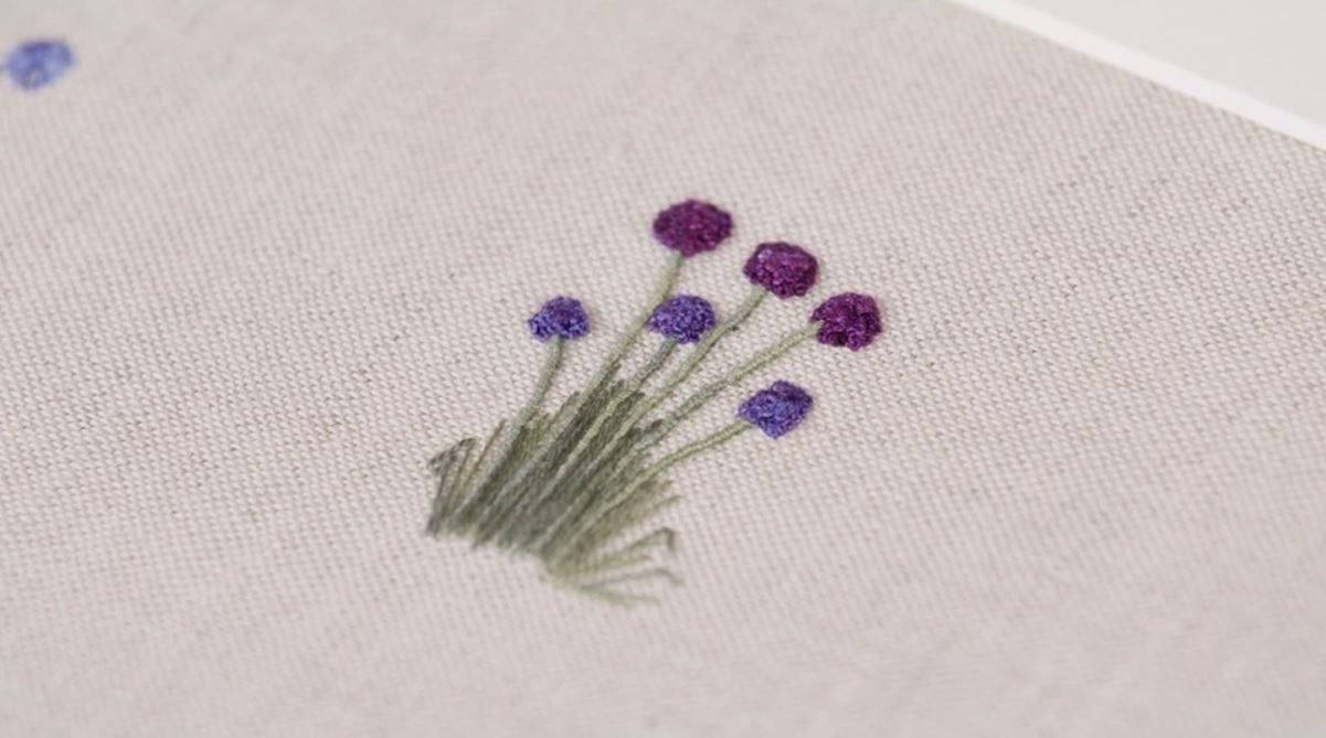 Creating Embroidered Flower Stems With Lorna Bateman Justhands On Tv