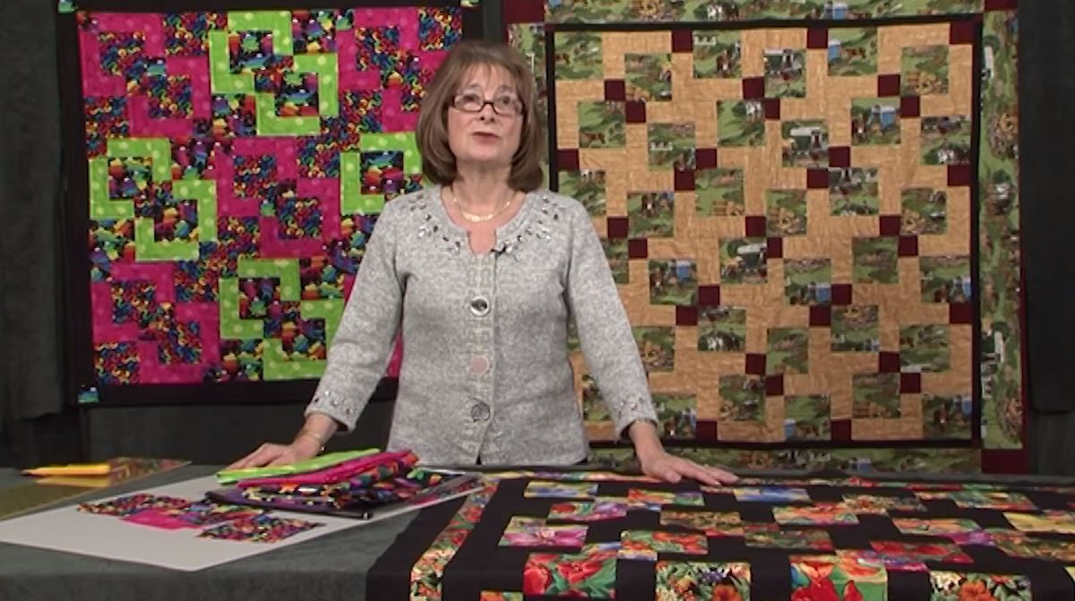 Cut 9 patch quilt with Valerie Nesbitt