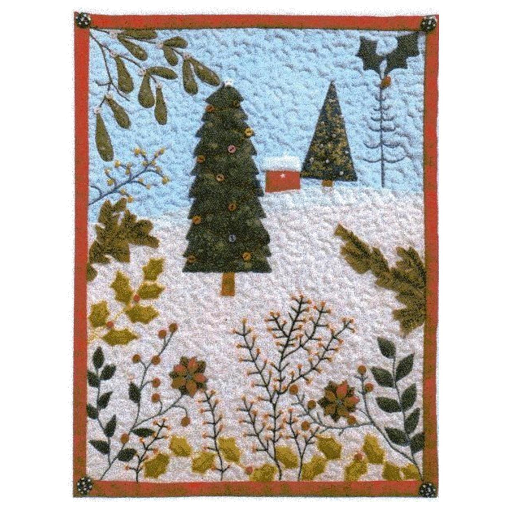 christmas, Julia Gahagan, miniature, scrap, shadow-applique