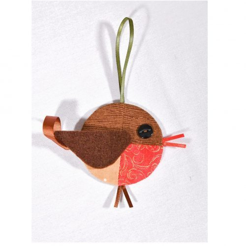 English Paper Piecing, Robin Christmas Ornament Kit