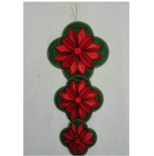 POINSETTIA CHRISTMAS HANGING & TABLE DECORATION SEWING PATTERN by Gail Penberthy 3 bxd