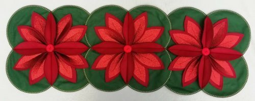 POINSETTIA CHRISTMAS TABLE DECORATION SEWING PATTERN by Gail Penberthy
