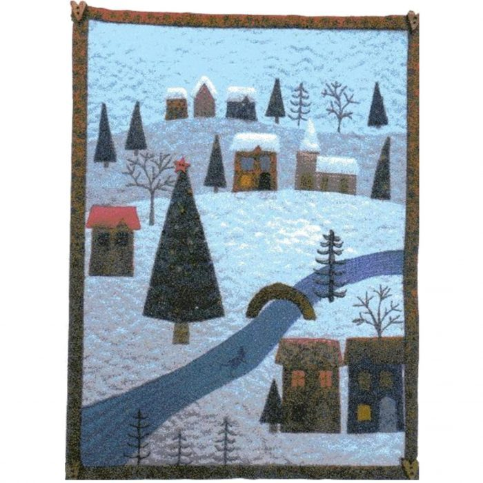 christmas, Julia Gahagan, miniature, scrap, shadow-applique