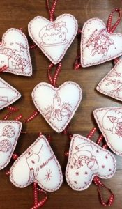 Hanging Heart Collection pattern designed by Mandy Shaw