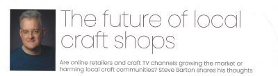 Article on shops and community from CRAFT FOCUS