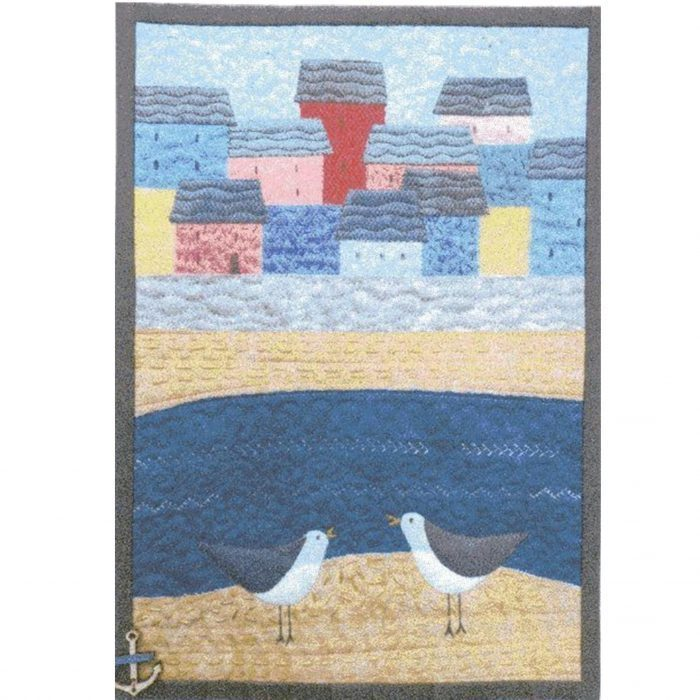 Cornish Village Miniature quilt kit designed by Julia Gahagan