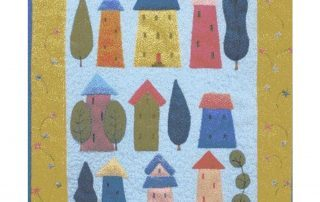 Home Sweet Home Miniature quilt kit designed by Julia Gahagan