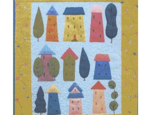 Subscriber Giveaway for September 2020: Home Sweet Home Miniature quilt kit designed by Julia Gahagan