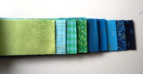 Libs Elliot Jelly roll in blue,turquoise (18 strips)