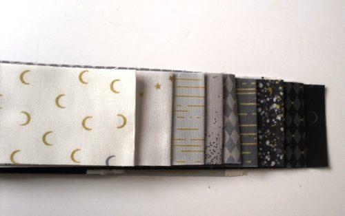 Libs Elliot Jelly roll in white,grey,black (18 strips)
