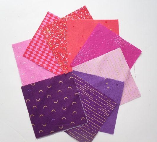 Libs Elliot Nickle pack in pink purple (18 squares)