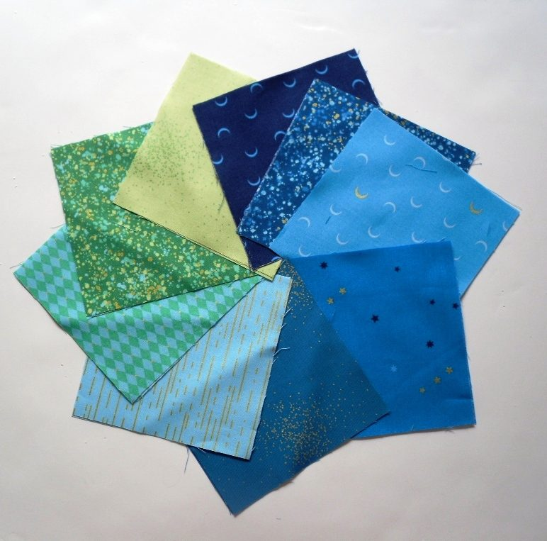 Libs Elliot Nickle pack in blue,turquoise (18 squares)