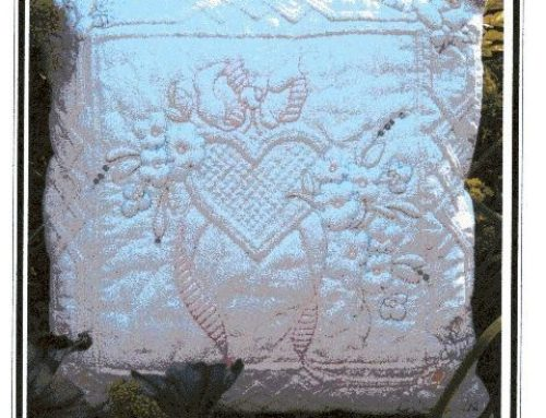 Subscriber Giveaway for September 2019 – Rose Trellis cushion pattern from Sylvia Critcher