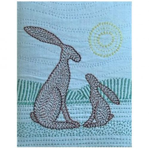 Trust-Hare-Kantha Kit by Angela Daymond
