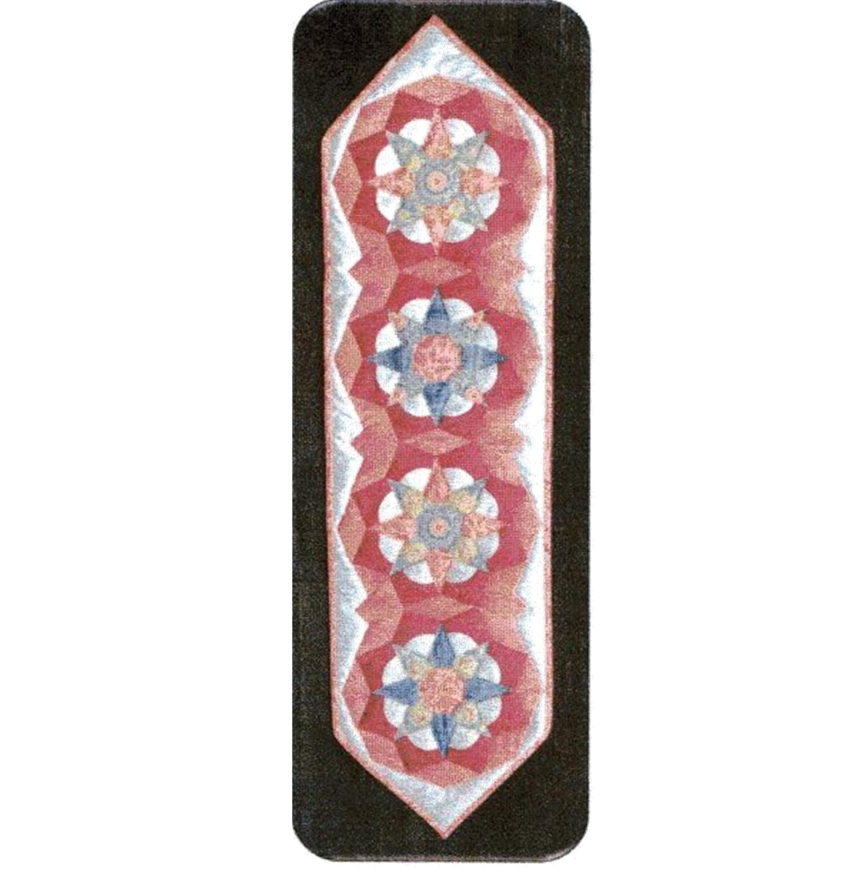Tudor Rose table runner EPP pattern from Nancy Adamek