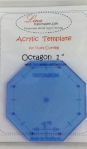Octagon Acrylic fussy cutting template 1inch from Lina Patchwork