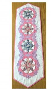 PRODUCT of the MONTH for Oct 19: Tudor Rose EPP Table Runner Kit from Creative Quilting