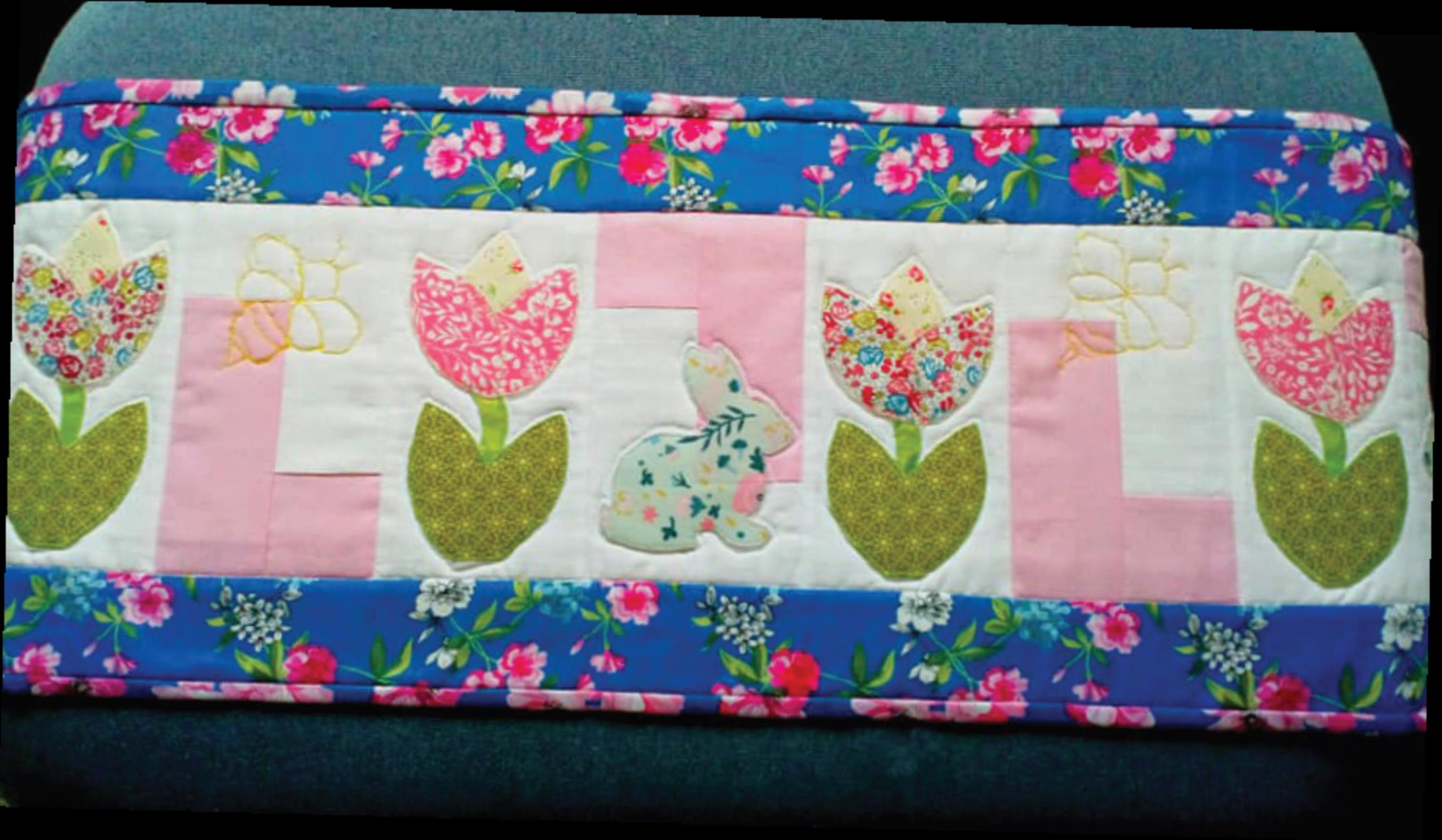 Flower Power Runner Readers Make Quilt Now Issue 66