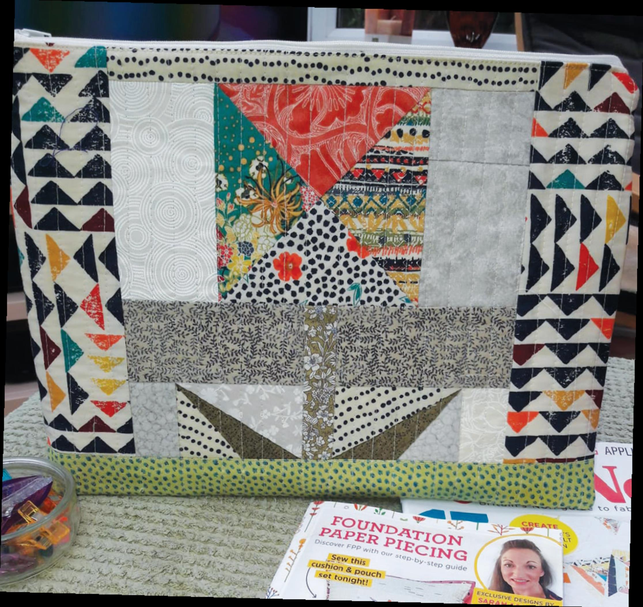 Foundation Paper Pieced Pouch Readers Make Quilt Now Issue 65