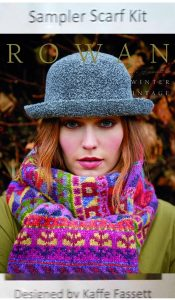 Rowan Sampler Scarf Kit designed by Kaffe Fassett