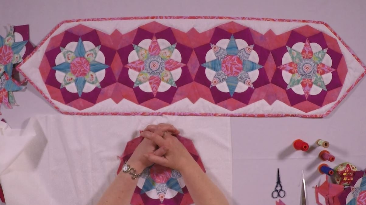 Tudor Rose Table Runner - Part 3 Finishing your project with Nancy Adamek