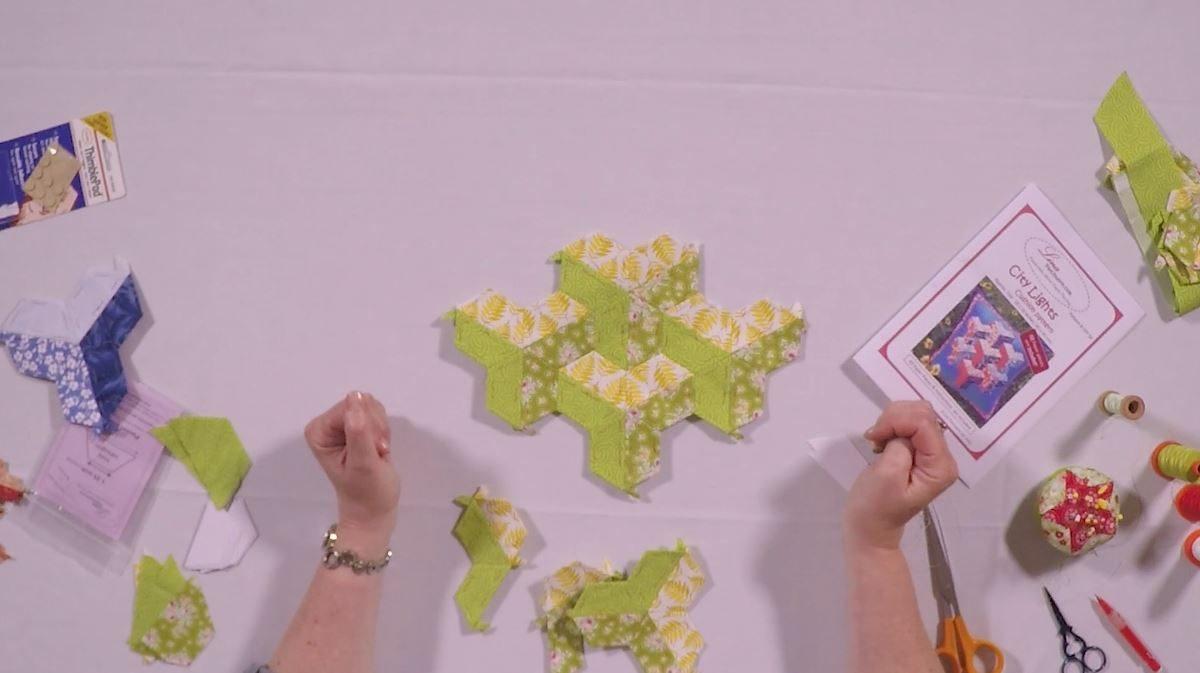 City Lights 3D English Paper Piecing patchwork with Nancy Adamek