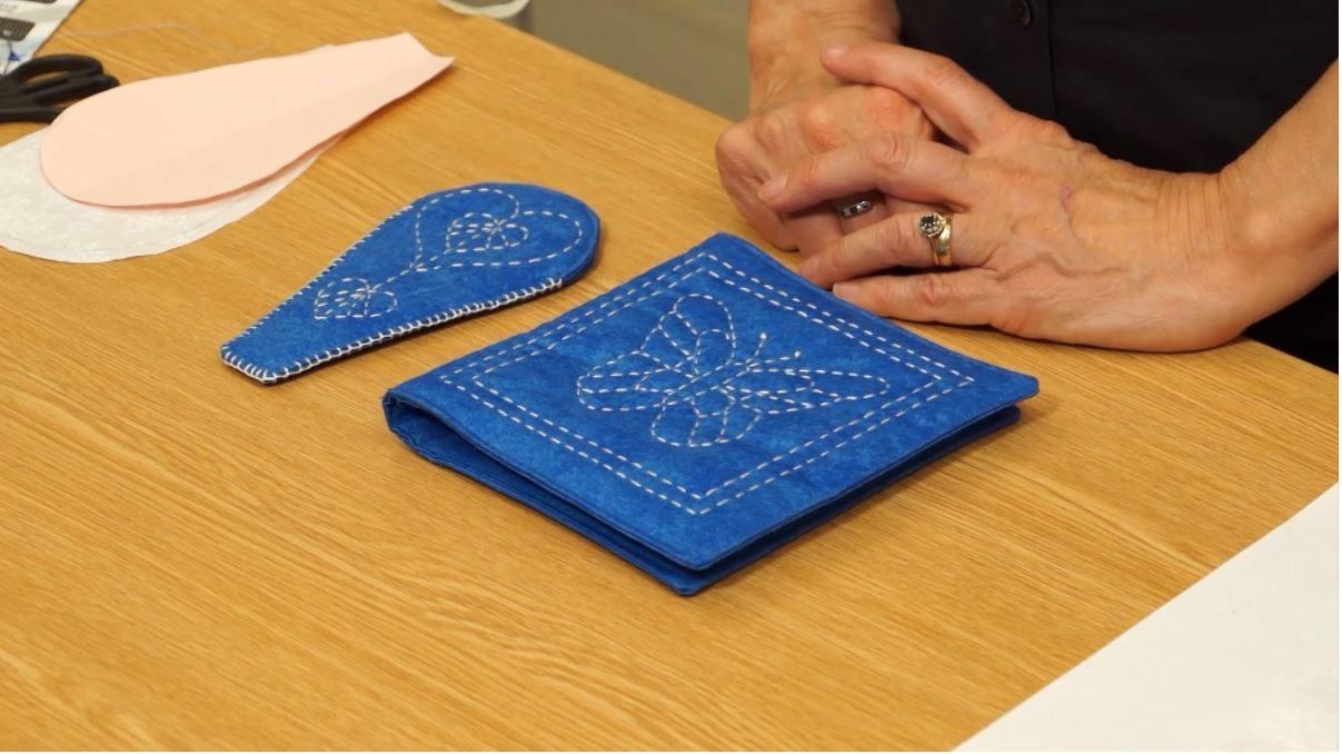 Sashiko Needle Case & Scissor Case from the Stitch Witch