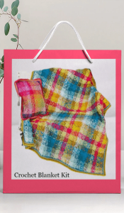 Crochet Tartan Effect Blanket Kit from Lady Sew and Sew